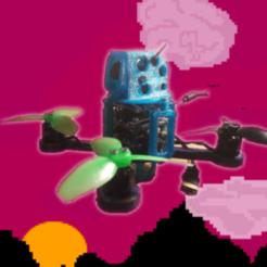 jabberwocky-thingi.png Télécharger fichier STL gratuit Jabberwocky - cadre de quadruple style libre de 2,5 pouces • Design pour imprimante 3D, noctaro