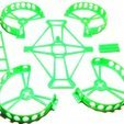 Free STL Micro quadrocopter - exchangeable semi ducts - Beecheese frame V11, noctaro