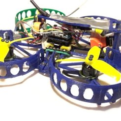 Download free 3D printer designs Micro quadrocopter - exchangeable semi ducts - Beecheese frame V11, noctaro