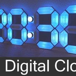 Free STL 3D Digital Clock, Leon77