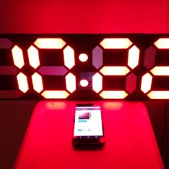 YT_Front.png Télécharger fichier STL gratuit Horloge numérique à 7 segments - V2 • Design à imprimer en 3D, Leon77