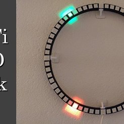 Download free 3D printer templates Wi-Fi Round LED Clock, Leon77