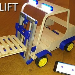 Download free 3D printer designs Forklift, Leon77