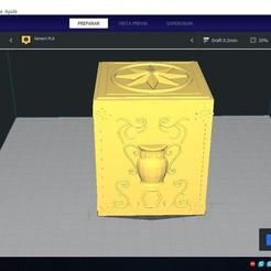Download 3D print files SIGN AQUARIUS - BOX PANDORA BOX SAINT SEIYA/ KEYCHAIN / KEYCHAIN, silver_16_47