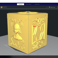 Descargar modelo 3D SIGNO Virgo - CAJA PANDORA BOX SAINT SEIYA / LLAVERO / KEYCHAIN, Imageniero3D