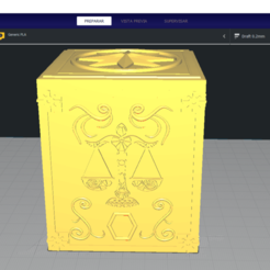 Descargar diseños 3D SIGNO LIBRA - CAJA PANDORA BOX SAINT SEIYA / LLAVERO / KEYCHAIN, Imageniero3D