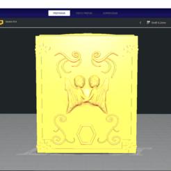 Download 3D printer files SIGN GEMINIS - GEMINI - BOX PANDORA BOX SAINT SEIYA / LLAVERO / KEYCHAIN, silver_16_47