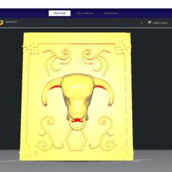 Download 3D printer templates SIGNO Taurus - Taurus - BOX PANDORA BOX SAINT SEIYA / KEYCHAIN / KEVERO, Imageniero3D