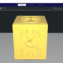 Download 3D printer designs SIGN PISCIS - PISCES - BOX PANDORA BOX SAINT SEIYA / LLAVERO / KEYCHAIN, Imageniero3D