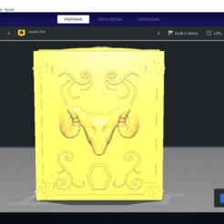Download 3D printer model SIGN ARIES - BOX PANDORA BOX SAINT SEIYA / LLAVERO / KEYCHAIN, Imageniero3D