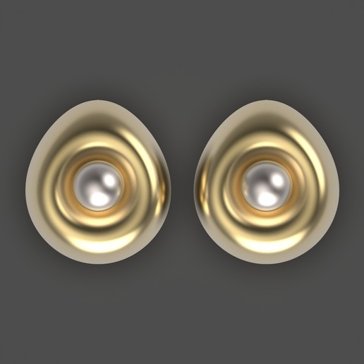 Télécharger fichier OBJ gratuit Boucles d'oreilles oeuf • Design imprimable en 3D, Alien_Loo