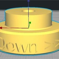 3D print model Alfawise U30 tray adjustment knob, djgl02