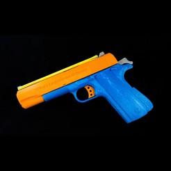 3D printer files WW3D 1911R Rubber Band Gun, Tribute