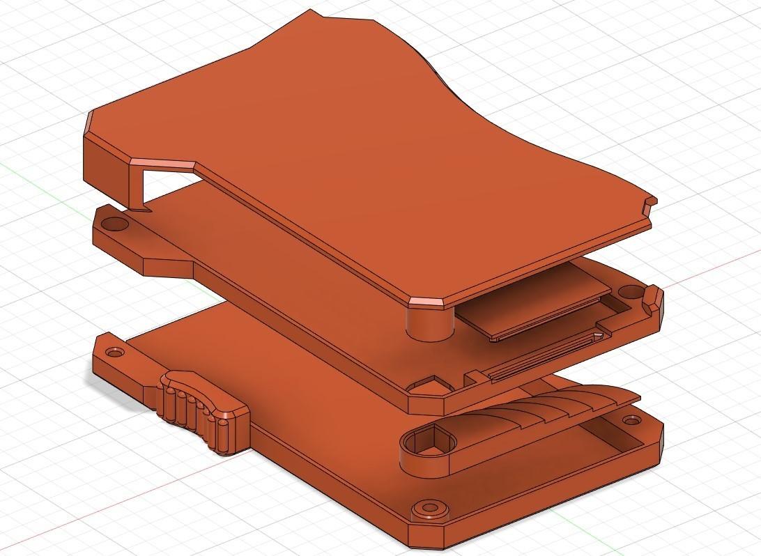 "diagram.jpg Download free STL file 3D Printed ""Smart"" Wallet (Updated for M3 Bolts) • 3D printer object, brunogalam"