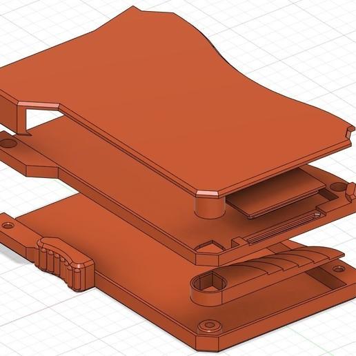 """diagram.jpg Descargar archivo STL gratis Billetera """"inteligente"""" impresa en 3D (Actualizada para los pernos M3) • Plan para la impresión en 3D, brunogalam"""