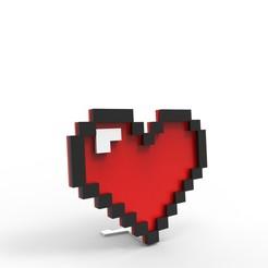 1.jpg Télécharger fichier STL Coeur 8 bits • Plan pour impression 3D, roberhlez