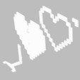 3D printing model 8bit heart, roberhlez