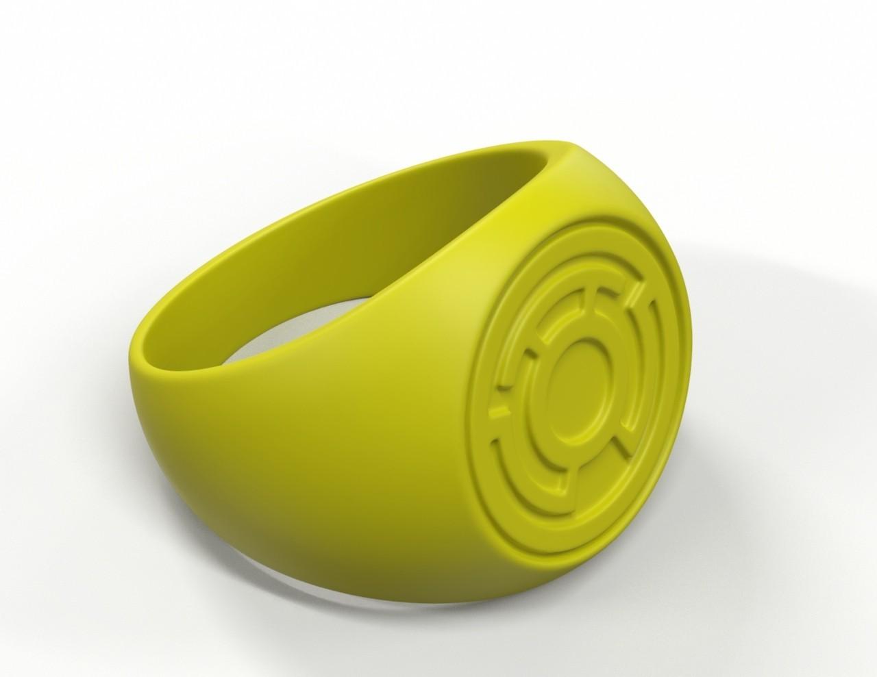 ring2.jpg Download free STL file Yellow Lantern Ring • Model to 3D print, roberhlez