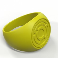 Free 3D model Yellow Lantern Ring, roberhlez