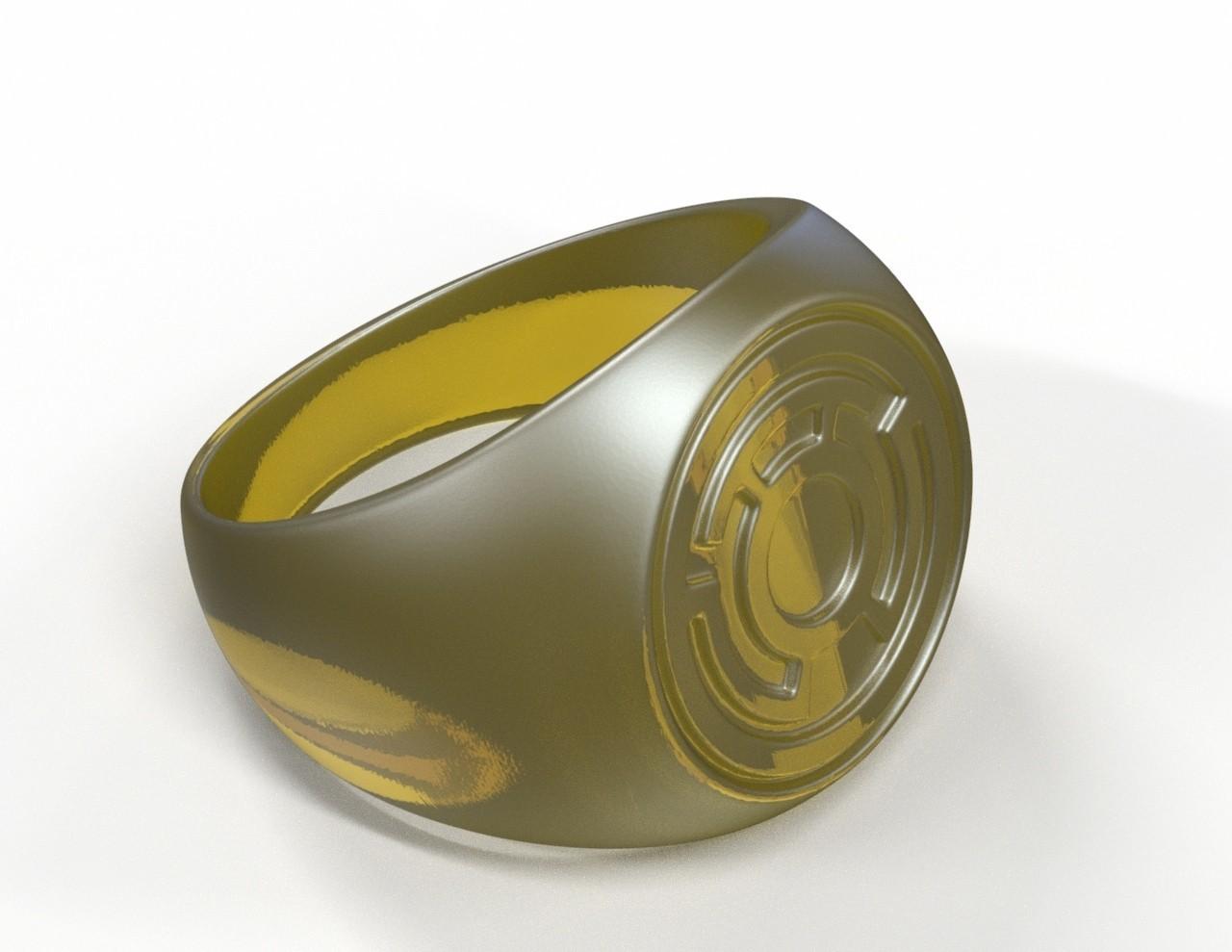 ring1.jpg Download free STL file Yellow Lantern Ring • Model to 3D print, roberhlez