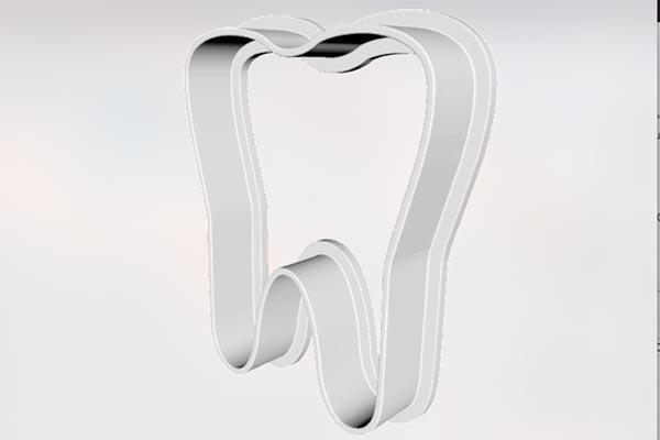 Teeth-1.jpg Download free STL file Cookie Cutter Tooth • 3D printable model, godaon