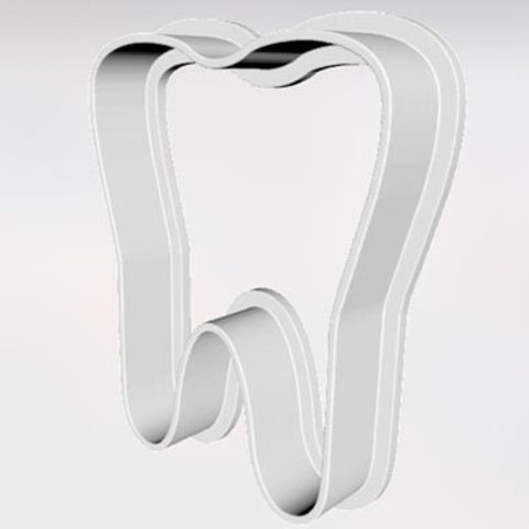 Download free STL files Cookie Cutter Tooth, godaon