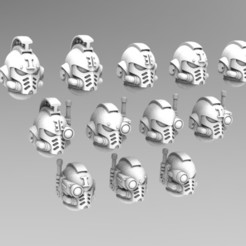 Download 3D printer designs Deathvigil Last Gen Helmets, ACEMinis