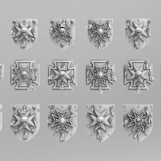 Download 3D printing models Templar Storm Shields, ACEMinis