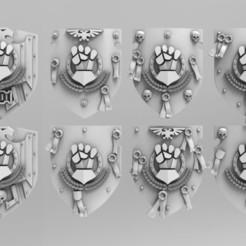 Descargar modelos 3D para imprimir Escudos de poder de puño, ACEMinis