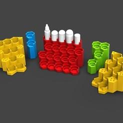 Imprimir en 3D gratis El estante de pintura modular de Citadel/Vallejo, ACEMinis