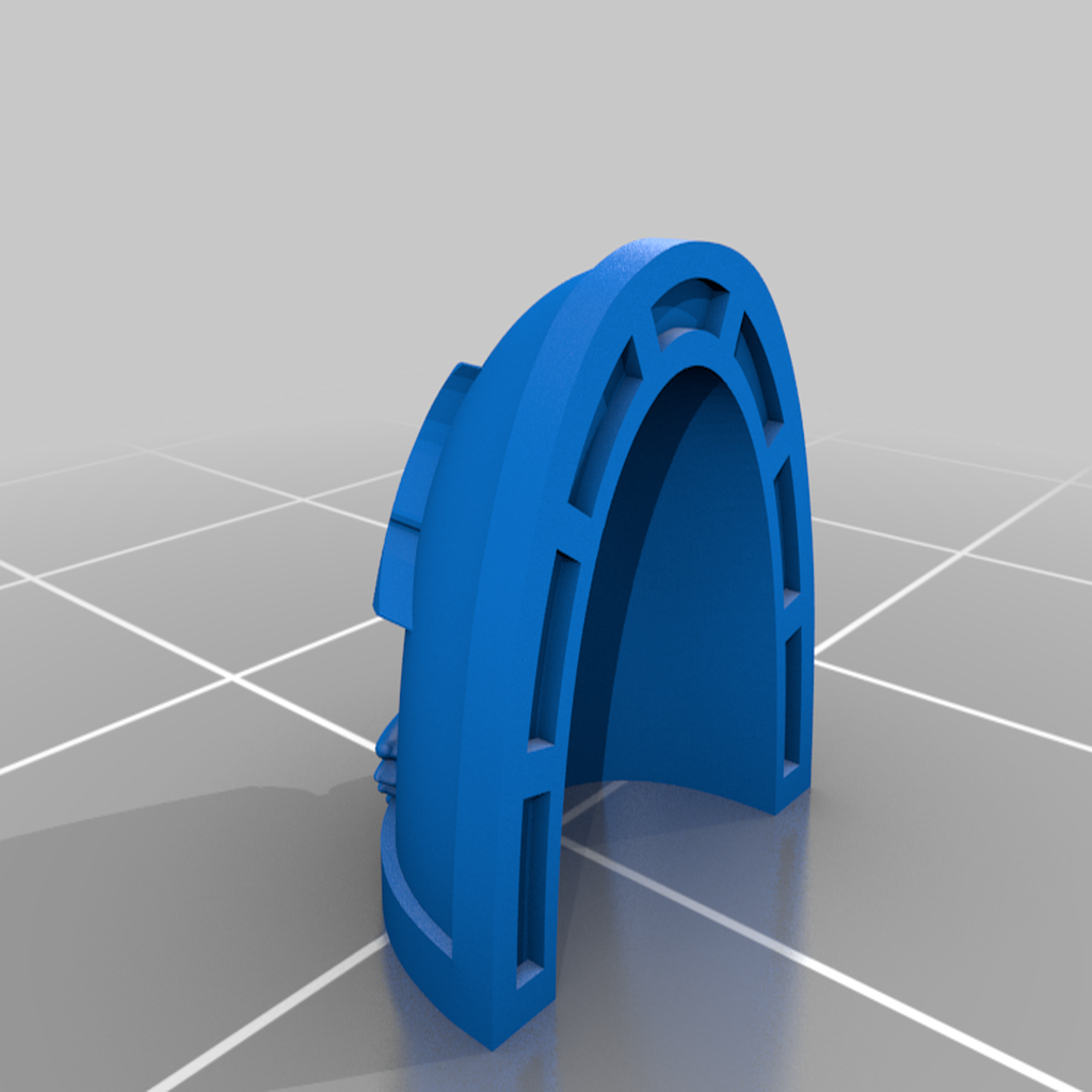 Morkai_Rep_MKVII_4_Pad.png Download free STL file Double Wolf head Chapter insignia • 3D printing model, Tatsura