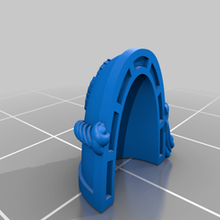 Great_Wolf_Rep_MKVII_2.png Download free STL file All Father Wolf Pauldrons • Object to 3D print, Tatsura