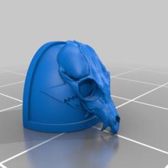 Descargar modelo 3D gratis Calavera de lobo pauldros, Tatsura