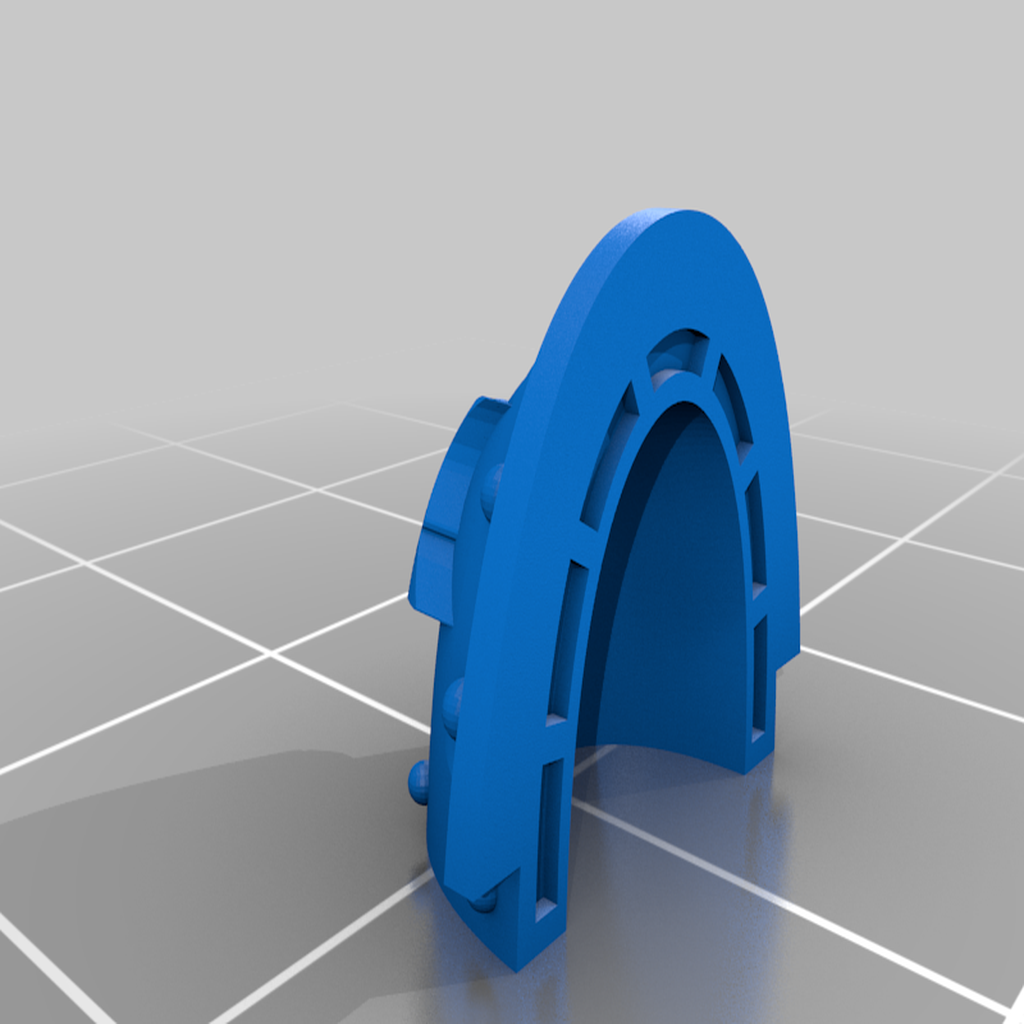 Morkai_Rep_MKV_and_VI_blank_3_Pad.png Download free STL file Double Wolf head Chapter insignia • 3D printing model, Tatsura