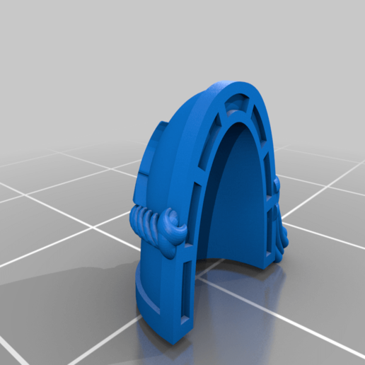 Morkai_Rep_MKVII_2_Pad.png Download free STL file Double Wolf head Chapter insignia • 3D printing model, Tatsura