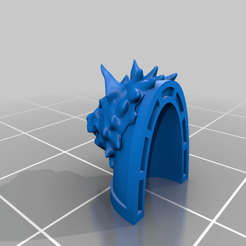 Ragnar_Large_Wolf_Head_Pad.png Download free STL file Alpha Wolf with a Blackmane • 3D printing object, Tatsura