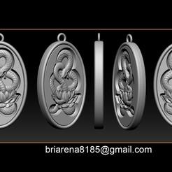 001.jpg Download STL file Snake Necklace Pendant • 3D printer design, briarena8185