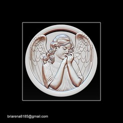 002.jpg Download STL file Angel relief • 3D print template, briarena8185
