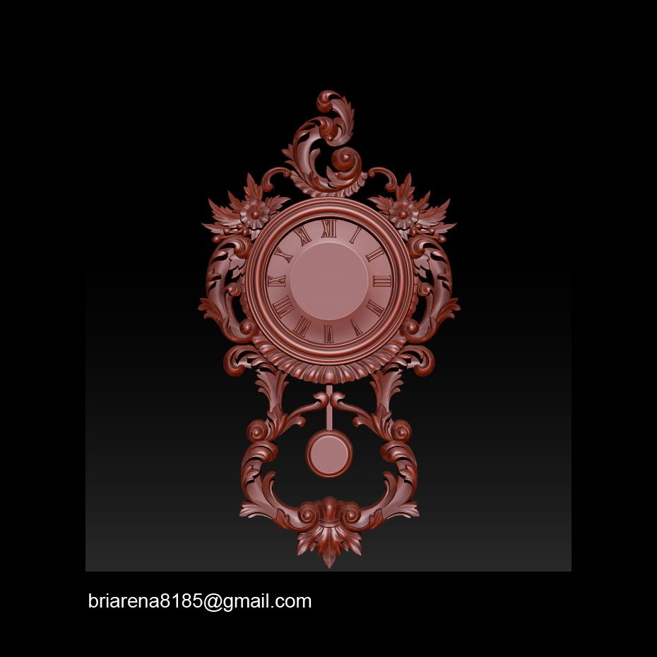 010.jpg Télécharger fichier STL gratuit Modèle 3D GRATUIT_ Pendule Rocaille • Plan imprimable en 3D, briarena8185