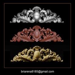 000.jpg Download STL file  Baroque ornaments model • 3D printing design, briarena8185