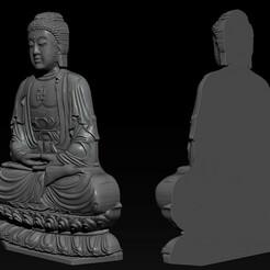 001.jpg Download STL file  Pendant Buddha - STL- OBJ and ZTL • 3D printer template, briarena8185