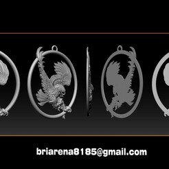 001.jpg Download STL file Eagle Pendant jewelry • 3D printer design, briarena8185