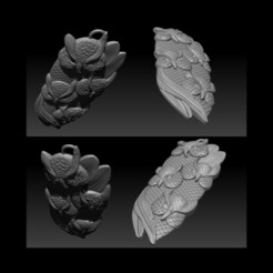 001.jpg Download STL file OWl Pendant jewelry • 3D printing model, briarena8185