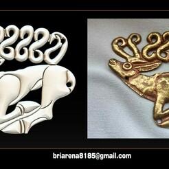 000.jpg Télécharger fichier STL Bijoux pendentifs en forme de cerf - Modèles STL 3D Routeur CNC • Design imprimable en 3D, briarena8185