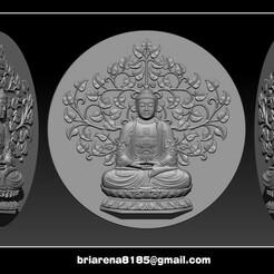 0000.jpg Download STL file Pendant Buddha - STL- OBJ and ZTL • Object to 3D print, briarena8185