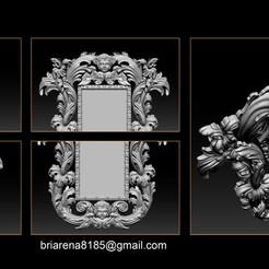 001.jpg Download STL file Mirror classical carved frame • 3D printer design, briarena8185