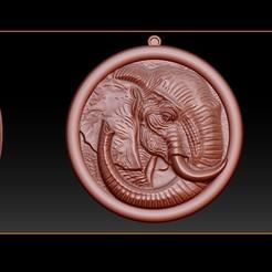 000.jpg Télécharger fichier STL Pendentif éléphant Bijoux Modèle d'impression 3D • Design pour impression 3D, briarena8185