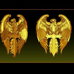 000 a.jpg Download STL file Eagle Pendant jewelry • 3D printer design, briarena8185