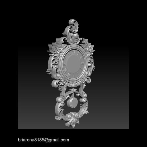 020.jpg Télécharger fichier STL gratuit Modèle 3D GRATUIT_ Pendule Rocaille • Plan imprimable en 3D, briarena8185