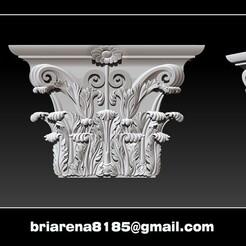 0000.jpg Download STL file Column capital - 3D STL Models CNC Router • 3D printing template, briarena8185